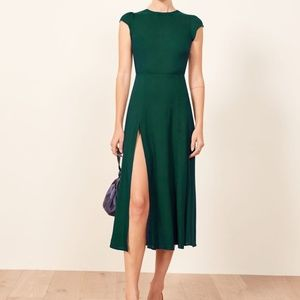 Reformation Gavin Dress - Emerald Green